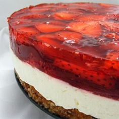 Judys Strawberry Pretzel Salad - Allrecipes.com (I feel like this could easily be made with GF pretzels and DF whipped cream and DF cream cheese...)