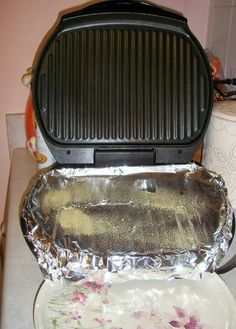 Time saver I love foil for so many different time savers - how come I never thought of the foil on the George foreman, I hated using my grill because of cleaning it up lol