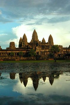 Ankor Wat - Temples of Angkor, near Siem Reap, Cambodia. I would brave the humidity for this.