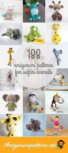 Amigurumipatterns.net has the largest collection of free and premium Safari Animals amigurumi patterns. Click now and discover wonderful crochet patterns!