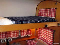 vintage travel trailer - bunk bed