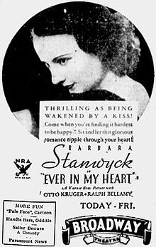 Ever In My Heart Poster.1933