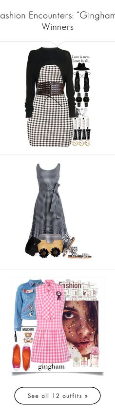 """""""Fashion Encounters: """"Gingham"""" Winners"""" by majezy ❤ liked on Polyvore featuring Alaïa, Givenchy, Yves Saint Laurent, ROSEFIELD, The Laundress, Boscia, ASOS, J.Crew, Marques'Almeida and Edie Parker"""