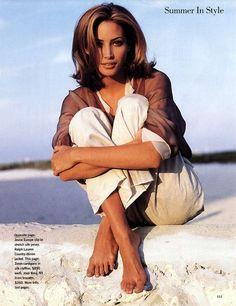 """Mirabella July 1992 """"Summer in City"""" Model: Christy Turlington Photographer: Pamela Hanson Hair: Mark Garrison Makeup: Jo Strettell"""