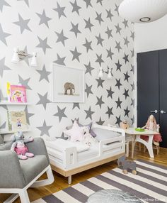 Mom's Best Network: Chic shared room space for a toddler and baby! featuring Sissy + Marley
