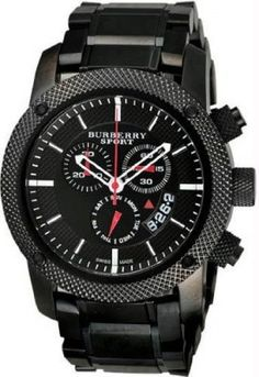 Relógio Sport Men's Chronograph Watch Color: Black / Grey #relogio #burberry
