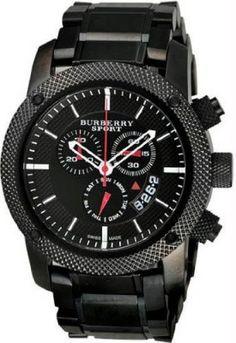 fe5f19b5840b4 Relógio Sport Men s Chronograph Watch Color  Black   Grey  relogio   burberry Relogios Masculinos