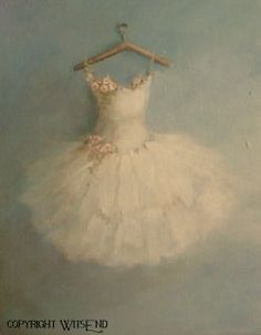'THE ROSE TUTU' ballet Tutu  painting ballerina rose costume fashion art still life FREE USA shipping. BY WitsEnd, via Etsy. SOLD