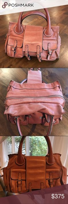 Chloe Edith handbag Gorgeous Chloe Edith double pocket satchel in cognac. This is the most amazing quality hangbag I have ever had. It's been used, but very well taken care of. Goes great with a bohemian look 😍Cleaning out my closet Chloe Bags