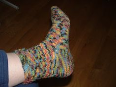Treasures Made From Yarn: The Chain Sock