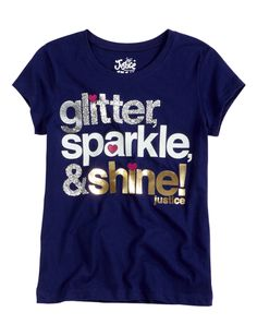Glitter Sparkle Shine Tee | Bffs And Faves | Graphic Tees | Shop Justice
