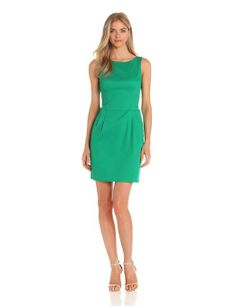 Ivy & Blu Women's Scoopneck Sheath Dress With Pockets, Spring Green, 12 at Amazon Women's Clothing store