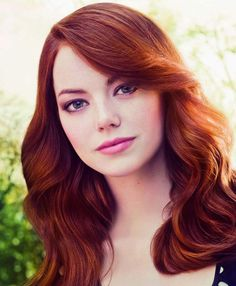 Emma Stone vivid red auburn hair ~~ 21 most famous celebrity redheads to inspire your next hair color