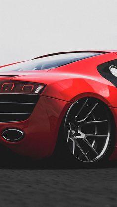 V◆ Visit ~ MACHINE Shop Café ◆ ❤ Best of Audi @ MACHINE... ❤ (Audi R8 Red Supercar Rear)