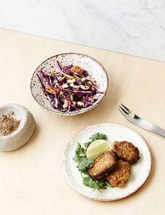 Five Spice Kentucky Fried Tofu with Kim Chi Coleslaw