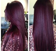 Deep plum, burgundy hair color