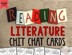 I have taught 6th graders for 15 years, and one thing I can tell you for sure is that they LOVE to CHIT CHAT with one another.  Because our day is so fast-paced and so much needs to be crammed in, I came up with the idea for CHIT CHAT CARDS.  Instead of writing down all of their thoughts or recording their responses, they have cards that keep them focused, on-topic, yet able to listen, speak, and discuss.