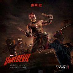untitled Daredevil Season 2 Poster: Daredevil Vs. The Hand