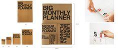 Los planificadores mensuales JStory, unos prácticos calendarios en versión miniatura y gigante en http://monkeyzen.com