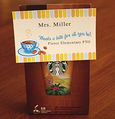 Coffee Tags | 9 Quick and Easy Teacher Appreciation Gifts | PTOToday.com