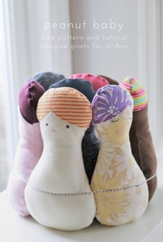 Peanut babies free sewing pattern and tutorial