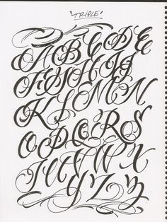 Chicano Tattoos Lettering, Tattoo Lettering Styles, Lettering Guide, Graffiti Lettering Fonts, Cool Lettering, Lettering Design, Cursive Tattoo Letters, Tattoo Lettering Alphabet, Cursive Alphabet