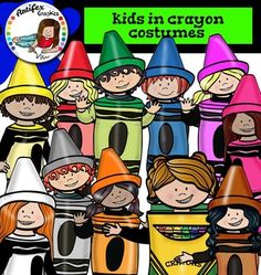 This set is available to purchase as part of the   Kids with supplies-Crayons BUNDLE Kids in crayon costumes set contains 18 image files, which includes 11 color images and 7 black & white images in png format.Kids in crayon costumes:Girl in red crayon costumeGirl in purple crayon costumeGirl in pink crayon costumeBoy in blue crayon costumeBoy in green crayon costumeBoy in blue crayon costumeBoy in grey crayon costumeGirl in brown crayon costumeGirl in white crayon costumeGirl in brown cr...