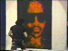 Denny Dent paints Stevie Wonder