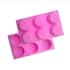 Silicone 6 Sunflower Chocolate Jelly Mold Cake Candy Ice Tray Baking Mould Tool