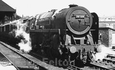 BR Britannia Class No. 70029 'Shooting Star' passes through Preston station with a freight train on 25th June, 1966.