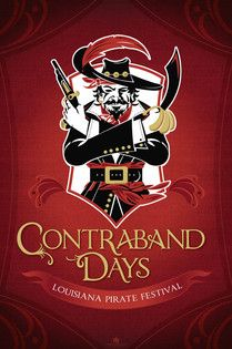 """Contraband Days"" Logo Design - Parker Brand Creative Services — Advertising • Marketing Strategy • Traditional Media • Social Media • Custom Illustration • Graphic Design — Serving Lake Charles and Sulphur, Louisiana since 2010"