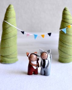 custom wedding cake topper by royalmint by MountRoyalMint on Etsy. $140.00 USD, via Etsy.