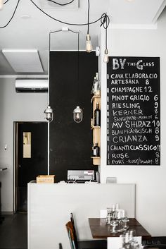 Uusi suosikki: Soil Wine Room ~ Notes on a life Cosy, Photo Wall, Wine, Chalk Board, Helsinki, Interior Ideas, Hospitality, Glass, Notes