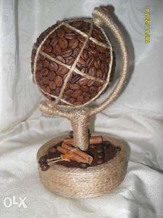 Кофейное дерево. Кофейный топиарий. Глобус. Кривой Рог - изображение 3