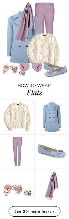 """Untitled #746"" by cranetattoo on Polyvore featuring Miu Miu, Emporio Armani, Burberry, J.Crew, MICHAEL Michael Kors, Matthew Williamson and GUESS"