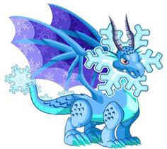 Snowflake Dragon-----Dragon City Dragon City, Ice Dragon, Draco, Amazing Art, Smurfs, Snowflakes, Avengers, Creatures, Fictional Characters