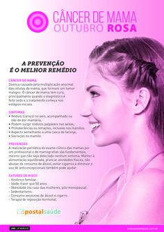 Cartaz para para campanha institucional sobre o câncer de mama. Outubro Rosa.