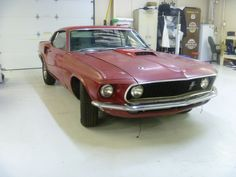 Mustang before restoration.