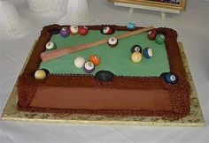 Groom's Cake: Pool Table
