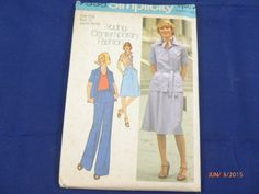 7338 Simplicity SZ 13jp Pattern Bust 35 Junior Petite Young Contemporary Fashion Misess' Shirt Bias Skirt Pants Vintage 1976 Uncut by 2xisnice on Etsy