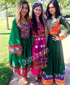 #afghan #style #dress #girls Garba Dress, Anarkali Dress, Afghan Clothes, Afghan Dresses, Hijab Fashion, Fashion Dresses, Kurta Style, Desi Clothes, Special Dresses