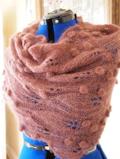 knitting pattern lace knit cowl scarf pdf by KnitChicGrace on Etsy