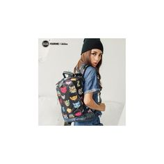 Animal Print Lightweight Backpack ($78) ❤ liked on Polyvore featuring bags, backpacks, accessories, lightweight bag, light weight backpack, light blue backpack, animal print backpack and polyester backpack