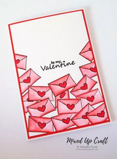 Mini Letter Valentines Card valentines day cards Last Minute Inspiration Valentines Card Design, Diy Valentines Cards, Valentines Day Decorations, Valentine Day Crafts, Be My Valentine, Valentines Lettering, Valentine's Day Diy, Diy Cards, Homemade Cards