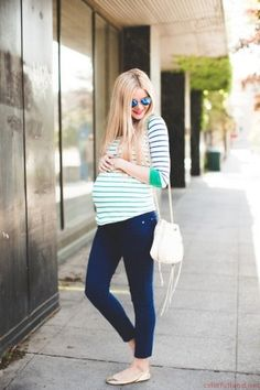 Maternity clothing blue pant