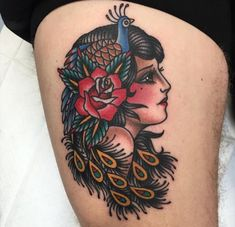 46 Ideas Tattoo Traditional Gypsy For 2019 Pin Up Tattoos, Head Tattoos, Trendy Tattoos, Tattoos For Women, Tattoos For Guys, Body Tattoos, Tatoos, Dragon Tattoo Back Piece, Dragon Sleeve Tattoos