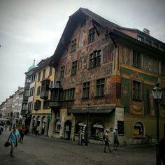 We were on the way in Downtown Schaffhausen, Switzerland