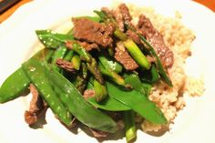 Thai Beef with Snow Peas and Asparagus