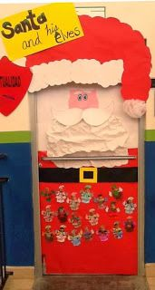 decorationg ideas with elf All Things Christmas, Winter Christmas, Christmas Crafts, Christmas Decorations, Christmas Ideas, Kindergarten Bulletin Boards, Christmas Bulletin Boards, Elf Door, Classroom Door