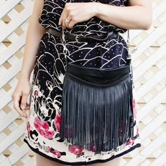 Sew a simple fringed leather purse that'll be perfect for summer.